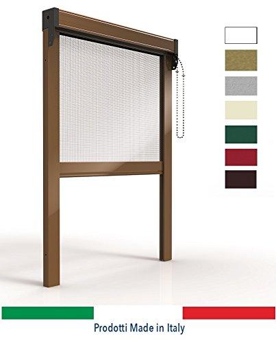 ORTENDE - Zanzariere per Finestre, Zanzariera Verticale in Alluminio a Catena, con Spazzolino Laterale, Produzione su Misura, Non Kit Cinesi di pessima QUALITA'.