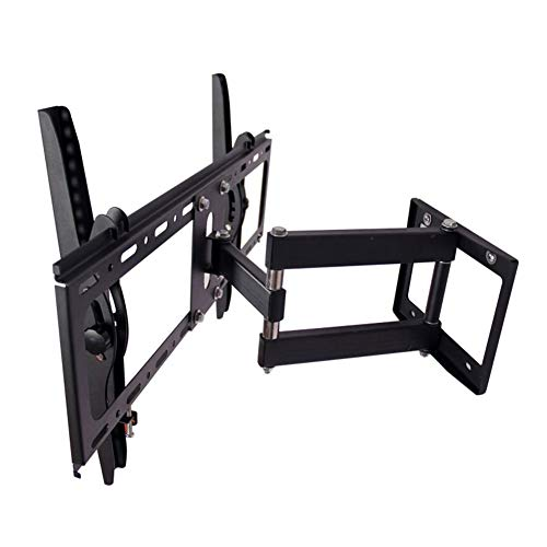 BSLBBZY TV stand Full Motion Tilt Swivel TV Bracket Articulating TV Wall Mount Led Stand Holder For 26''-50''LCD/LED Plasma 3D TV (Color : Black, Size : WMX0037L)