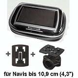 XiRRiX GPS Bikerset 1 Motorradtasche Navi Biker Set Universal Fahrrad+Motorrad Halterung inkl....