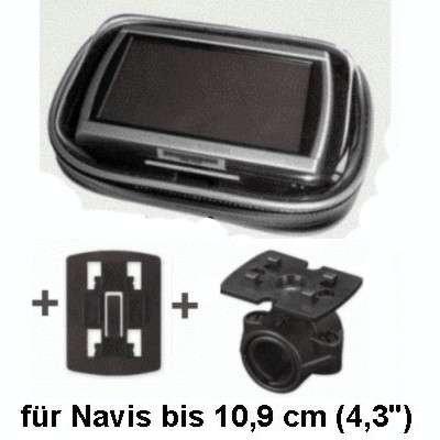 XiRRiX GPS Bikerset 1 Motorradtasche Navi Biker Set Universal Fahrrad+Motorrad Halterung inkl. Tasche, Outdoor-Tasche für Navigation, für GPS Geräte bis 4,3