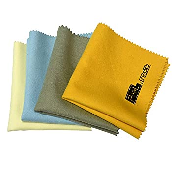 Pixel Glasses Cloth Lens Cloth Cleaning Cloth DSLR Camera Glasses Cloth Microfiber Cleaning Cloths Glass Screen Glasses 4 Pack