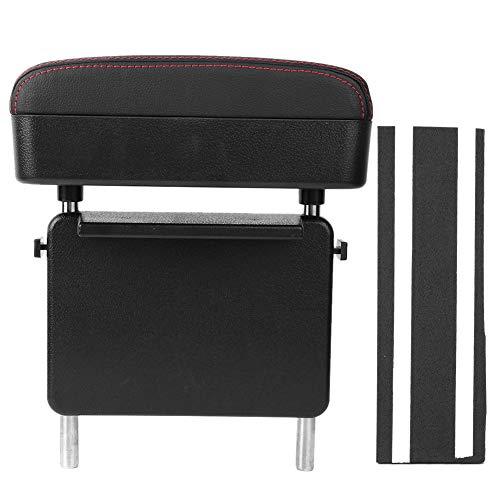 Changor Caja de apoyabrazos, Sofá Ajustable Armazario Organizador Espacio de Almacenamiento ABS Cuero Hecho Caja de reposabrazos (Negro)