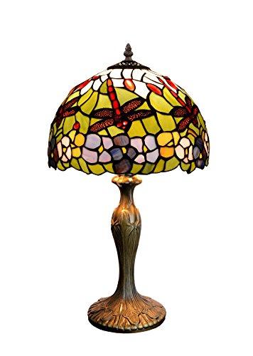Viro Sobremesa Tiffany Serie Compact Lámpara de Mesa E27, Multicolor, 30 x 30 x 50 cm