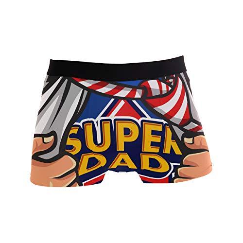 JIRT Herren Boxershorts Papa ist Mein Superheld Unterwäsche männlich atmungsaktiv Stretch Trunks Bulge Pouch weiche Unterhose