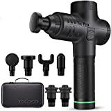 TOLOCO Massage Gun - T11 Pro Upgraded Handheld Muscle Deep Tissue Muscle Massager, Body Massager Sports Drill Portable Super Quiet Brushless Motor (Black)