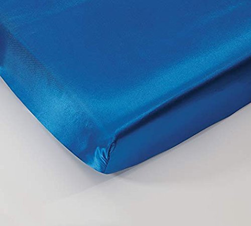 California Drapes Soft & Silky Satin Crib Fitted Sheet, Great for Babies with Sensitive Hair, Fully Elastic All Around for A Secure Fit (Royal Blue)