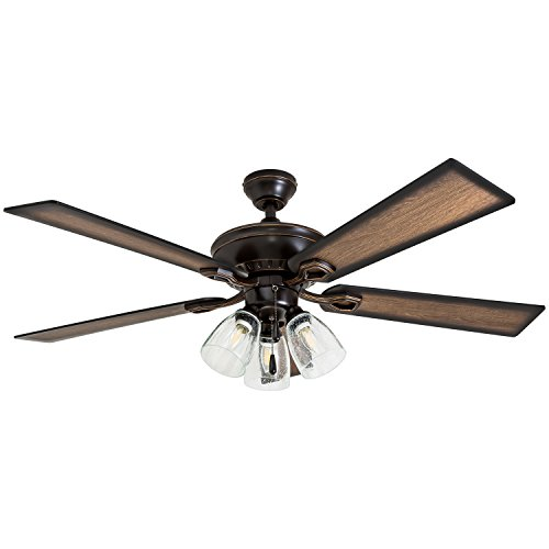 Prominence Home 40278-01 Glenmont Rustic Ceiling Fan with...