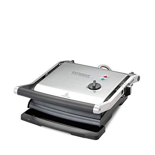 GASTROBACK #42514 Health Smart Grill Pro, Kontaktgrill, Tischgrill, 2.200 Watt Hochleistungsthermostat, Low-Fett-Funktion, arretierbare Höhenverstellung, ideal für gesundes Kontakt-Grillen ohne Fett