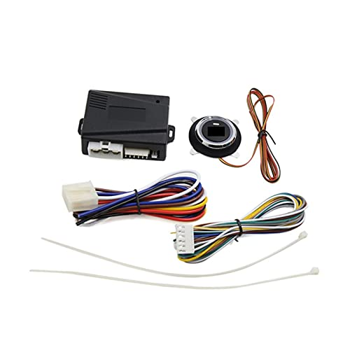 HUIXIAN XXIPO STRC Coche Smart Car Motor Alarma Finger Push Starter Sistema de Entrada sin Llave GO Puls Push BOTÓN Start STENTE (Color : Start Stop)