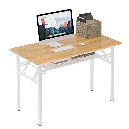 Need Bureau 120 x 60cm Table Traiteur Pliante Table Informatique Pliable Bureau de réception, Teck Chêne Couleur & Blac AC7BW