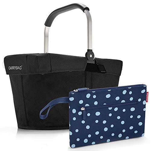 reisenthel Einkaufskorb carrybag plus cover plus case 2 Einkaufskorb Einkaufstasche Einkaufsset (black)