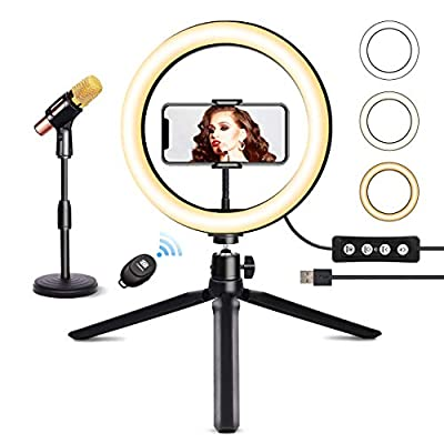 """JOGDRC 8"""" Selfie Ring Light with Tripod Stand by JOGDRC"""