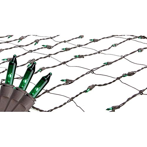 2' x 8' Green Mini Net Style Tree Trunk Wrap Christmas Lights - Brown Wire