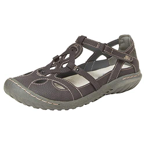 JBU by Jambu Ladies' Sydney Sandal/Flat Sandals for Women (9 M US, Charcoal/Gray)