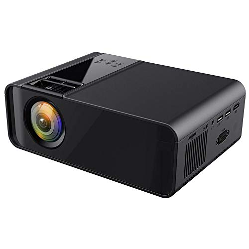 Mini LCD HD Portable Home Theater Projector, Support Dual USB/HDMI/YGA Interface/Headphones / 1080P, 1500 lm 480P Physical Resolution Multilanguage Projector, Best Gift (110V-240V, Black)(US)