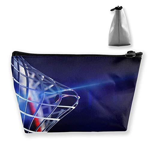 Trapezförmige Kosmetiktasche, Kosmetiktasche mit Eishockey-Aufdruck, Reise-Aufbewahrungstasche für Handys