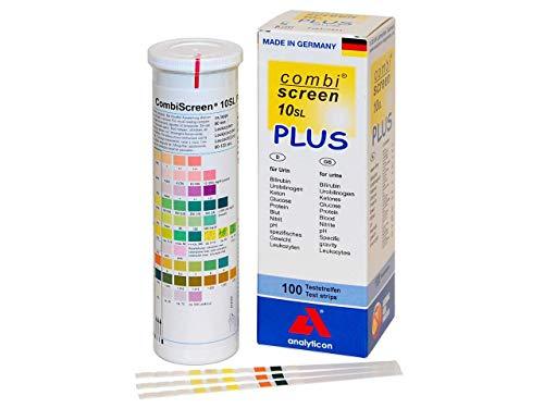 GIMA 24061 Combi Screen Plus Test e Analizzatori Urine e Sangue, Visual, 10 Parametri, Scatola di 100
