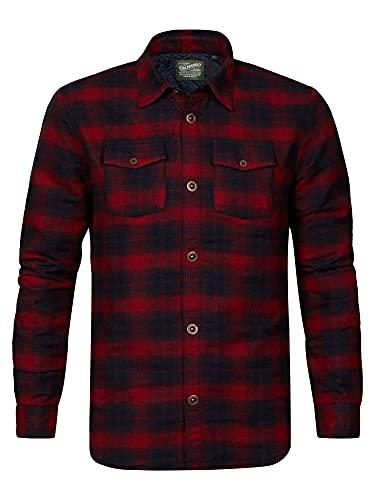 Petrol Industries - Camisa de leñador para hombre, color rojo., Spice Red, XS
