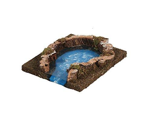 BERTONI Miniatur Lake Modell, Holz, Mehrfarbig, 16x 14x 3cm