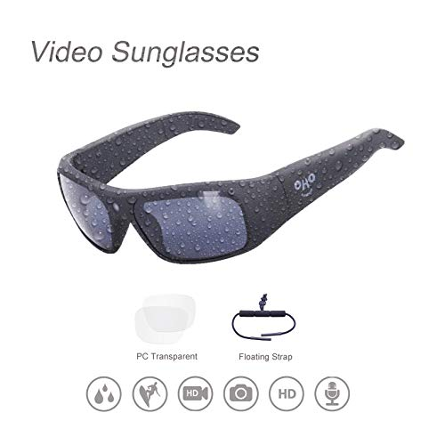 32GB Waterproof Video Sunglasses,1080 HD Outdoor Sports Action Camera and Polarized UV400 Protection Safety Lenses,Unisex Sport