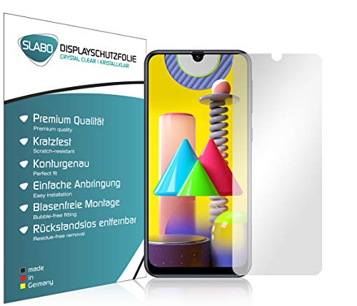 Slabo 4 x Bildschirmschutzfolie für Samsung Galaxy M21   M31 Bildschirmfolie Schutzfolie Folie Zubehör Crystal Clear KLAR