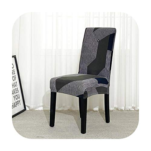 Slipcovers Geometry Spandex Chair Slipcover Printed Stretch Elastic Chair Cover for Dining Room Office Wedding Banquet Party 1/2/4/6Pcs-Color 21-6Pieces