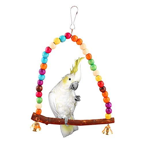 HEEPDD - Amaca per pappagalli, con perline colorate, per pappagalli medi e piccoli, per pappagalli piccoli e piccoli