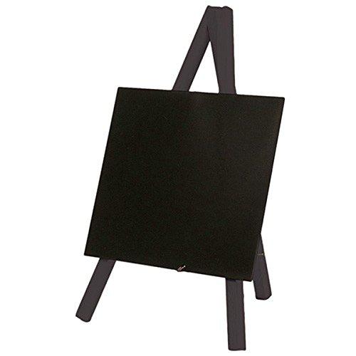 Visiodirect Mini Ardoise de Table Noir avec Feutre - 24 x 15 cm
