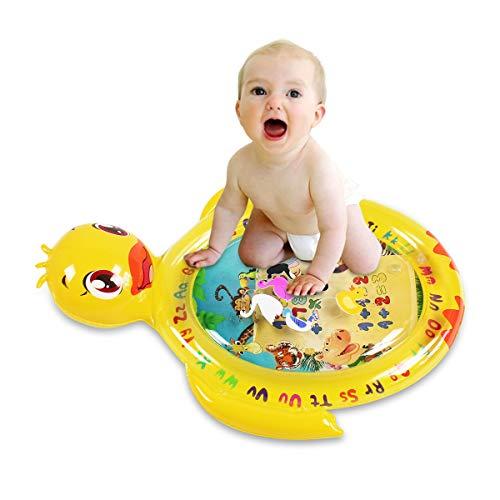 HONGTEYA Wassermatte Baby Wasserspielmatte 58 * 50cm Aufblasbare und Wasserfüllung Spielzeug frühe Entwicklung des Säuglings Entenförmige Wassermatte Spielmatte für 3 6 9 Baby