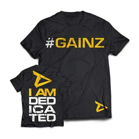 Dedicated Nutrition T-Shirt #GAINZ Bekleidung Sportbekleindung Fitnessbekleidung Fitness Bodybuilding L
