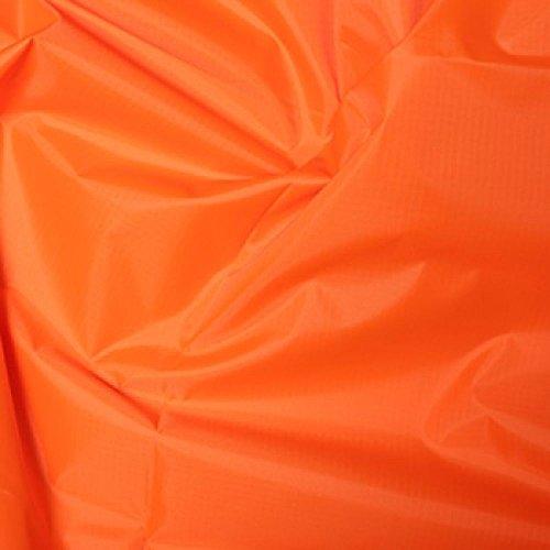 Orange Gewebe der gefärbt Polyester Rip Stop reißfest wasserdicht 150cms breit–Meterware