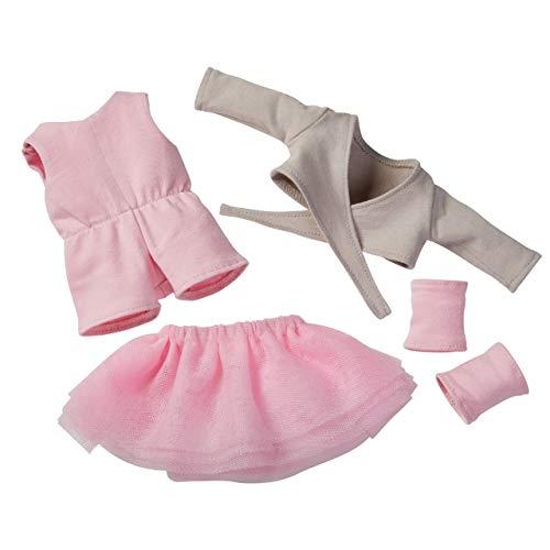 HABA 304581 - Kleiderset Balletttraum, Puppenzubehör für 32 cm große HABA-Puppen, Set aus Jumpsuit, Tüllrock, Jäckchen und Stulpen, Spielzeug ab 18 Monaten