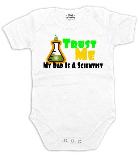 Rock Offspring Trust Me - My Dad is A Scientist 700804 Baby Bodysuit 002 6-12 Months