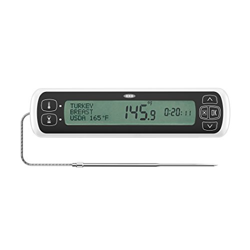 OXO Good Grips Chef's Precision Digital Leave-In Thermometer, Stainless Steel