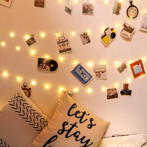 LED Light String Photo Wall Decoration Photo Clip USB Festoon Light String Fairy Lights Battery Operated Garland New Year's Party Christmas Holiday Decorations For Home Room