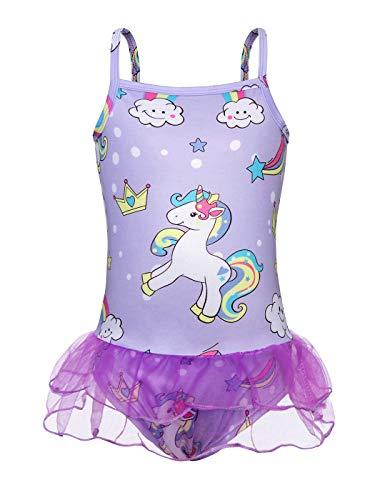 AmzBarley Ragazza Unicorno Costume da Bagno Due Pezzi Bambina Set di Tankini Costumi Estate Vacanza Mare Spiaggia Piscina Nuotare Bikini