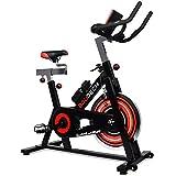 boudech bici da spinning professionale con volano da 18kg - cyclette spin bike da corsa per allenamento fitness con cardiofrequenzimetro e software di monitoraggio