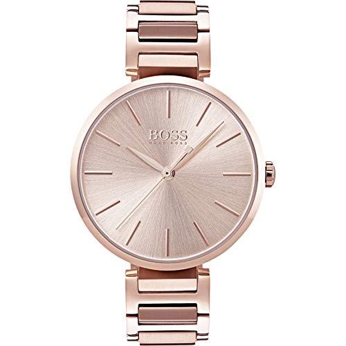 Hugo Boss Damen Datum klassisch Quarz Uhr mit Edelstahl Armband 1502418