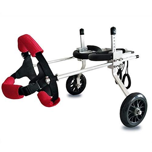 YESSW Silla de Ruedas para Perros Ajustable, Mascota para Silla de Ruedas Caminar Carro Scooter débil paralizado para discapacitados Pata Trasera de 2 Ruedas Trasera (Size : XS Widened)