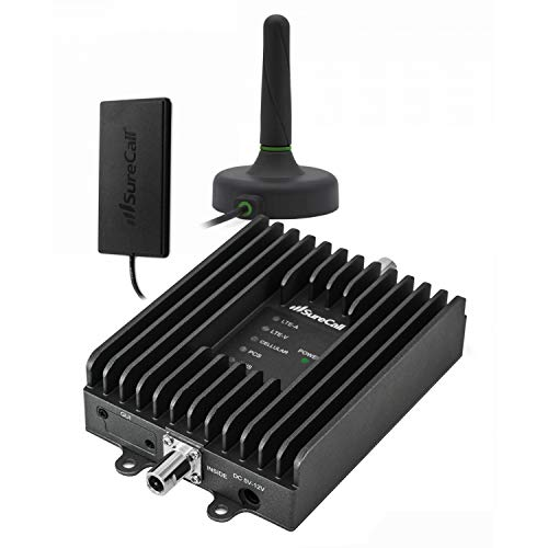 SureCall Fusion2Go 3.0 Cell Phone Signal Booster for Vehicle | Whole vehicle coverage for multiple devices | Boosts Voice, data for 4G, LTE, 3G