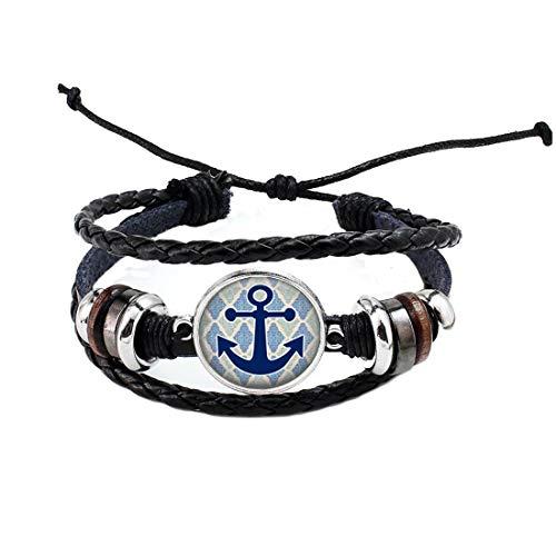 Pulsera de ancla con ancla para joyas de arte, pulsera náutica con encanto # 97