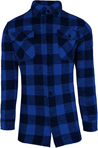 Mc Allister Bûcheron Chemise / 100% Coton/épais Qualité/S - 3XL - Bleu/Noir, XXL