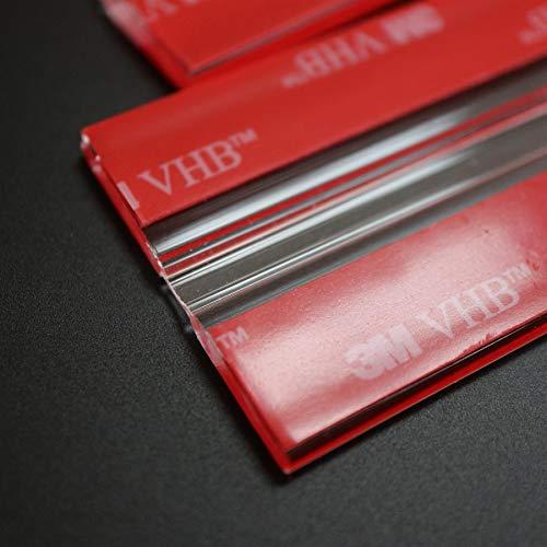 4x 200mm Bisagras Flexibles : no se requiere pegamento. Autoadhesivas. Plástico bisagras activas y flexibles, plexiglás. Bisagras acrílicas, continuas y transparentes de piano.