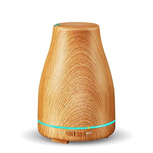 Kunyun Aromaterapia Difusor de Madera del Grano de la máquina Noche de los hogares de Aire Ligero Spray humidificador ultrasónico Enchufe de la UE (Color : A)