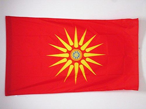 AZ FLAG Flagge MAZEDONIER ETHNIE 150x90cm - MAZEDONIEN Fahne 90 x 150 cm Scheide für Mast - flaggen Top Qualität