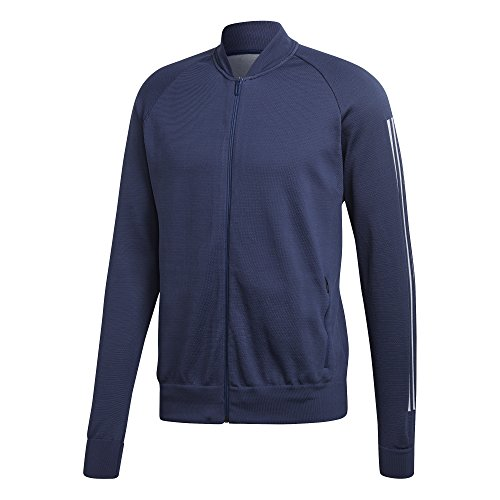 adidas Herren M ID Kn Bomber ID Knit Bomberjacke, Blau (Noble Indigo), XL