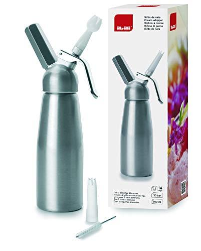 IBILI Sifon de Nata, Aluminio e Interior Lacado sanitariamente garantizado, 1 Litro
