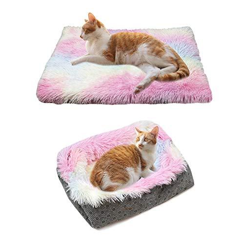 Katzebett Hundebett Katzekörbchen 2-in-1 Katzekorb für Katzen Schlafplatz Katzekissen Katzebett Katzesofa Couch bequemes, gemütliches Kissen für Haustiere Katze klein Hund Kissen