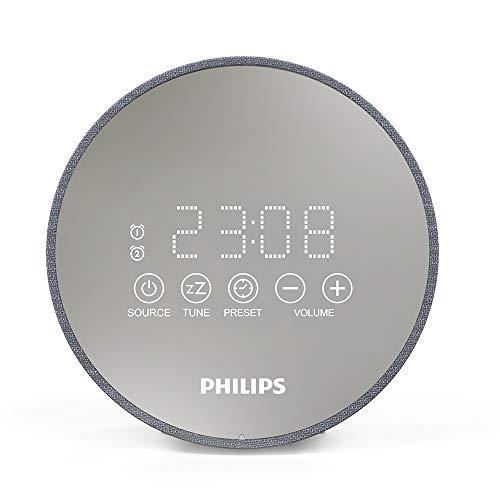 Philips Audio Radiowecker DR402/12 Digitaler Radiowecker (Sleep Timer, USB Ladefunktion, 2 Weckfunktionen) TADR402/12 Silber
