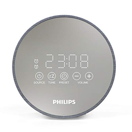 Philips Audio Radiowecker DR402/12 Digitaler Radiowecker (Sleep Timer, USB Ladefunktion, 2 Weckfunktionen) TADR402/12 Silber